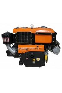 Дизельний двигун Файтер R195ANE, 13.5 к.с з електрозапуском, водяне охолодження, ремінний привід, гарантія, доставка