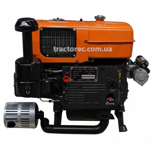 Дизельний двигун Файтер ZS1115E з електрозапуском, 24 л.с, водяне охолодження, гарантія, доставка!