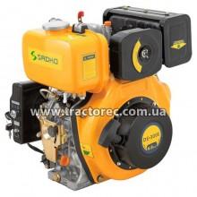 Двигун дизельний Sadko DE-300E, 6 к.с, електрозапуск, вал-шпонка. БЕЗКОШТОВАНА ДОСТАВКА!