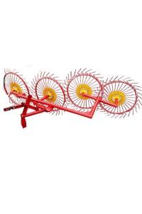 Сінограбарка сонечко 4 (4 колеса), Грабли ворошилки до мотоблока