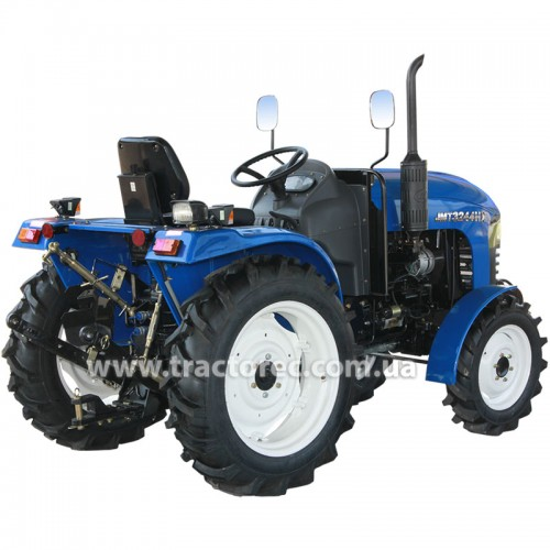 Трактор Jinma JMT 3244 HX, 3 цил, 24 к.с, ГПК, КПП 16+4, мяке сидіння, 2-х дискове зчеплення.