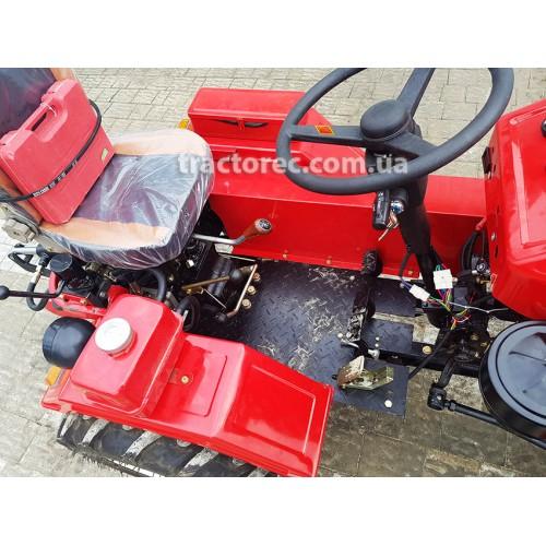Мототрактор DW 160 LXL, 16 к.с, + підсилена фреза та двокорпусний плуг, 2 гідравлічних, циліндри, постійне блокування коліс, 2 педалі гальм. Безкоштовна доставка!