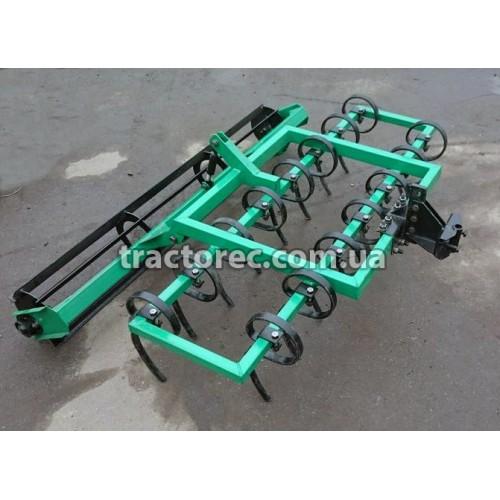 Культиватор пружинний 1.4 м з грудобійним катком для мототраткорів, мінітракторів, тракторів. У наявності різні кріплення!