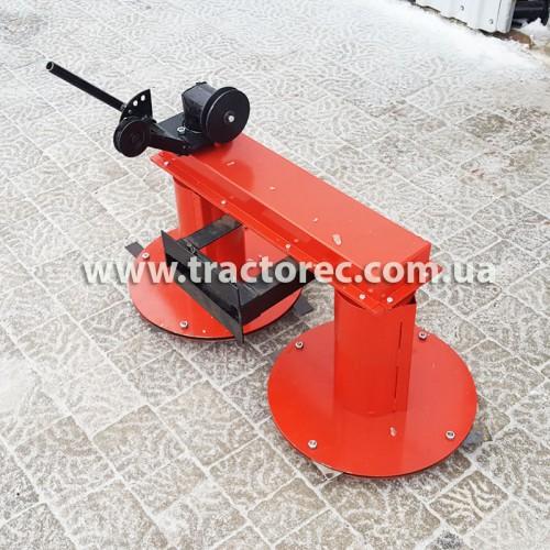 Коса роторна передня для мотоблока КР-110, збільшений захват та високі стойки на дисках!