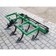 Культиватор суцільного обробітку 1.4 м із грудобійним катком (барабаном) для мототрактора, мотоблока, міні-трактора