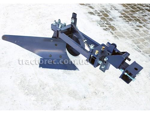 Плуг однокорпусний із збільшеним корпусом та колесом для мототракторів із гідравлікою. УСИЛЕНА КОНСТРУКЦІЯ!