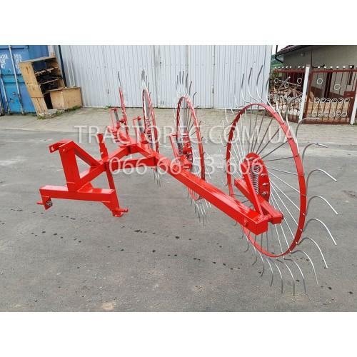 Сінограбарка сонечко колісно-пальцева на 4 круги для трактора, мінітрактора, ОНОВЛЕНА, виробник Польща! Граблі-ворошилки. Якість гарантована.