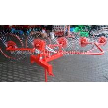Граблі-ворошилки колісно-пальцеві 5-ти секційні для міні-тракторів від 12 к.с.