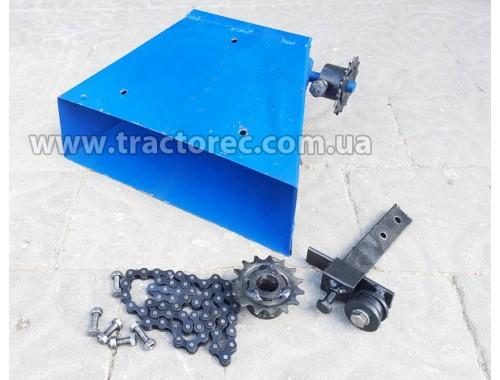Механізм висіву міндобрива із бачком (бункером) для картоплесаджалки мотоблочної