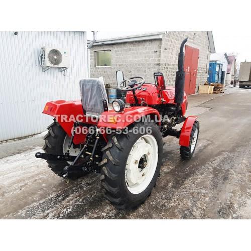 Трактор XT244 DF PRO, 25 к.с, 4х4, 3 цил, передній міст від DONG FENG, блокування коліс, гідропідсилювач керма, грузи задніх коліс, безкоштовна доставка!