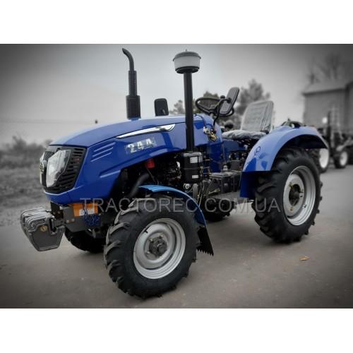 Трактор GS 244HSL потужністю 25 к.с із гідропідсилювачем керма, повний привід 4х4, регулювання колії та блокування задніх коліс. Безкоштовна доставка по Україні