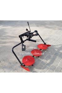 Коса роторна КР-03М трьохдискова модернізована для мототракторів під передній гідроциліндр з регулюваннями, ширина покосу 120 см