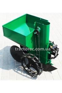 Картоплесаджалка до мотоблока, мототрактора однорядна, обєм 45л, усилена рама, регулювання ширини та глибини посадки