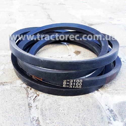 Ремень В3100 (Б3100) привідний клиновий для мототракторів Булат, Форте, Скаут, Лідер та інших, дуже якісний