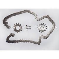 Комплект зірочок та ланцюг приводу грунтофрези мототрактора. Зірка 2 шт 13 зубів, посадка 18мм, 26мм, ланцюг 12.7 крок, 68 звен