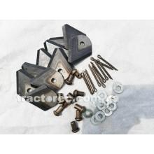 Комплект кованих ножів 10 шт ПРЕМІУМ якості для роторних косарок мотоблоків, мототракторів, тракторів